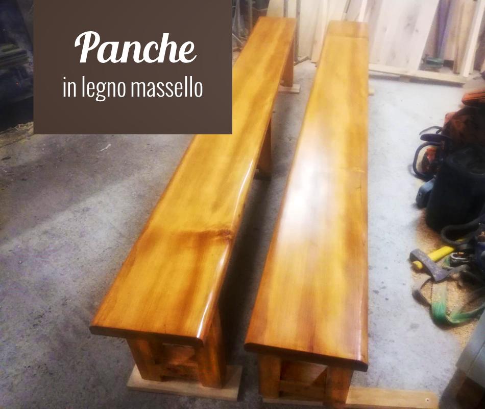 Panche in legno massello