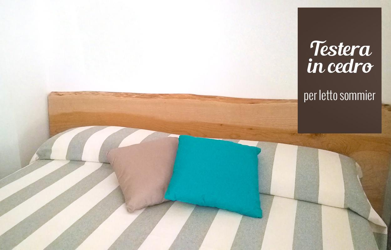 Testiera per letto sommier in legno di cedro