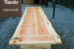 Tavolo in legno massello per esterno