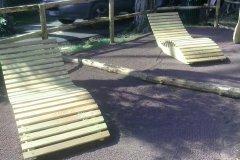 Chaise longue in legno